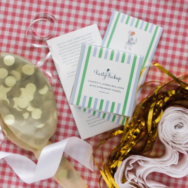 Confetti Balloon with Gold Streamer Tassel Kit, Gold