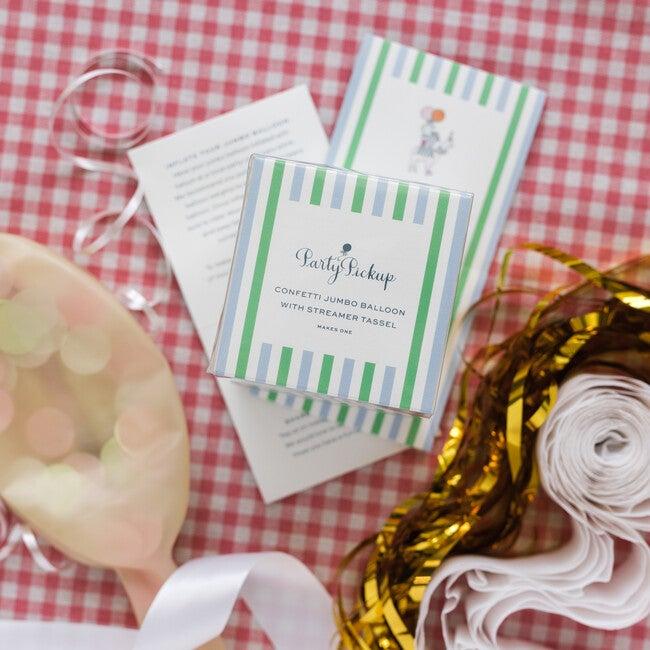 Confetti Balloon with Gold Streamer Tassel Kit, Ballet Slipper