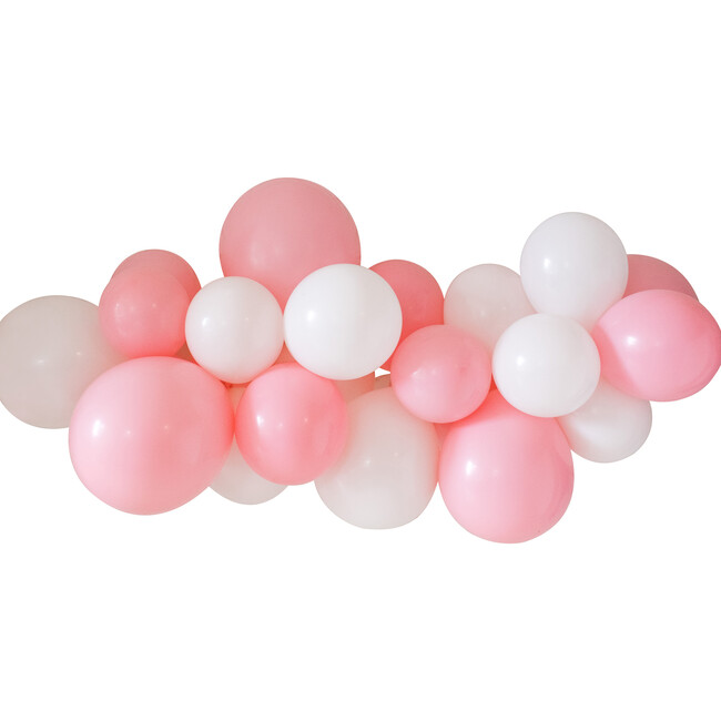 Balloon Garland Kit, Classic Pink and White