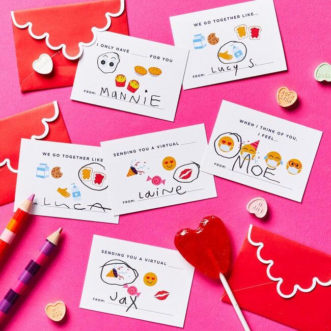 Emoji Embrace Valentine's Day Cards