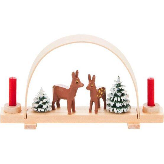 Deer and Tree Decorative Pyramid, Small