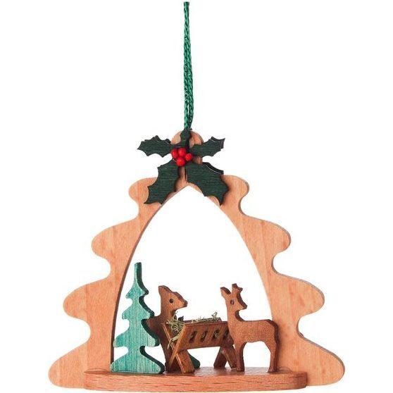 Arch Deers Feeding Ornament