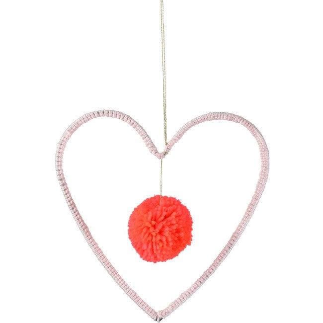 Wire & Wool Heart Decoration