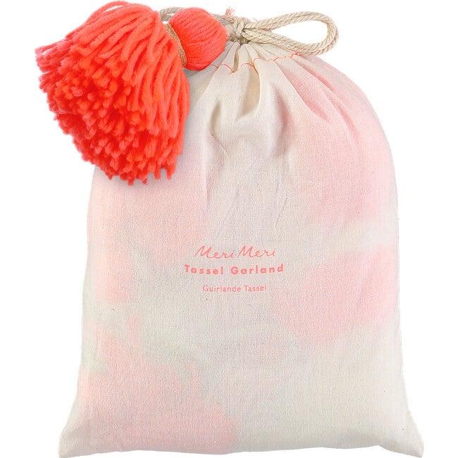 Pink Wool Tassel Garland