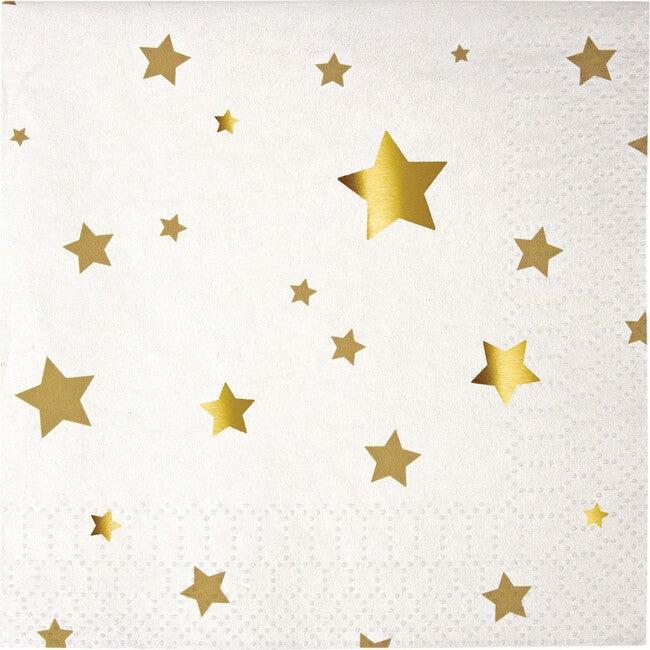 Gold Star Confetti Napkins, Small