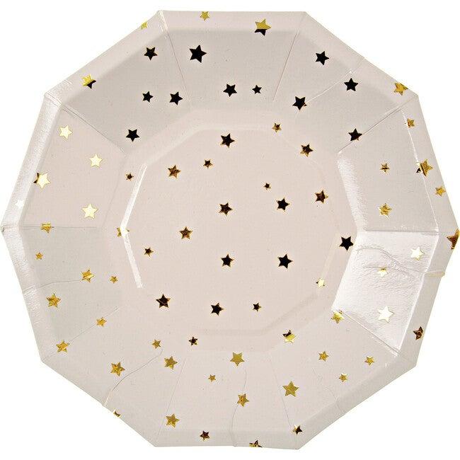 Gold Star Confetti Side Plates