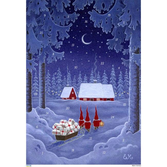 Tomte with Sleigh Advent Calendar