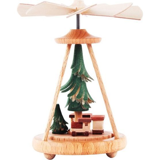 Train and Tree Mini Decorative Pyramid