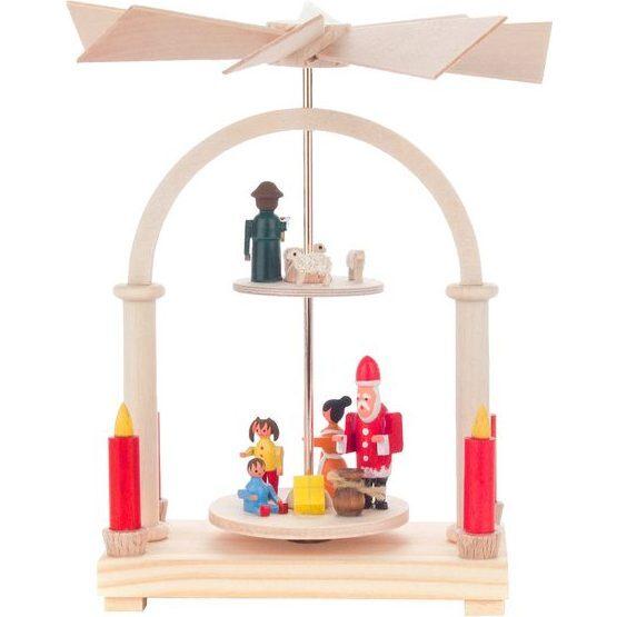 Two-Tier Santa Decorative Pyramid, Small