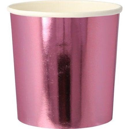 Metallic Pink Tumbler Cups