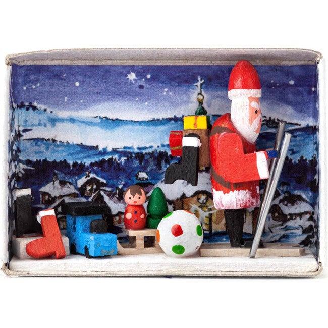Santa with Present Matchbox