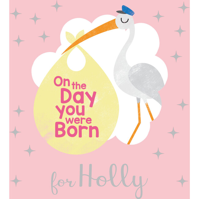 Personalized On the Day You Were Born Book, Pink