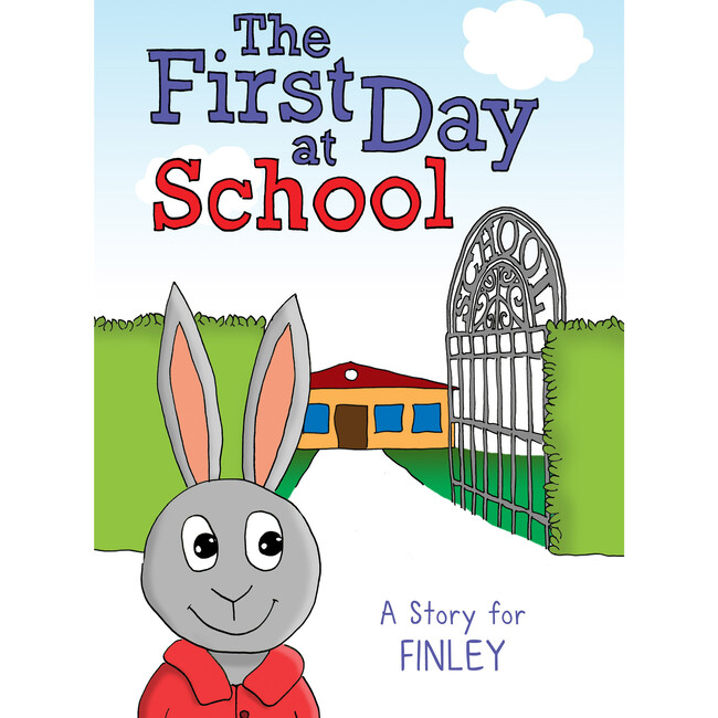 First Day At School Personalized Book, Hardback