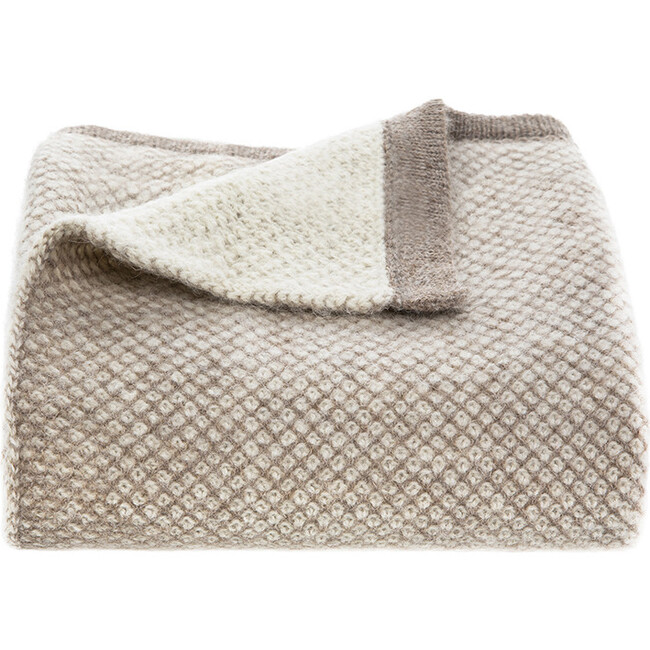Qori Reversible Knitted Throw, Taupe