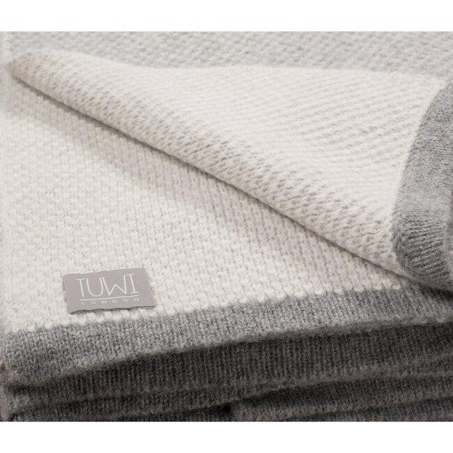 Qori Reversible Knitted Throw, Grey