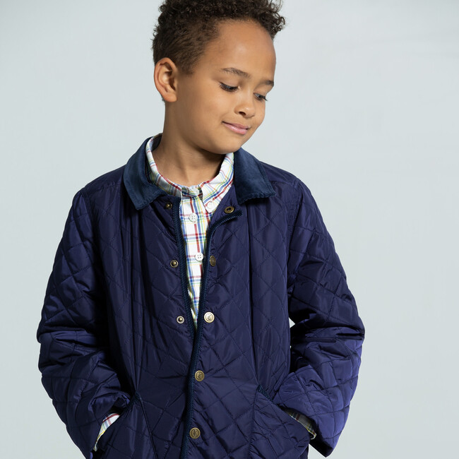 Classic Quilted Jacket, Navy