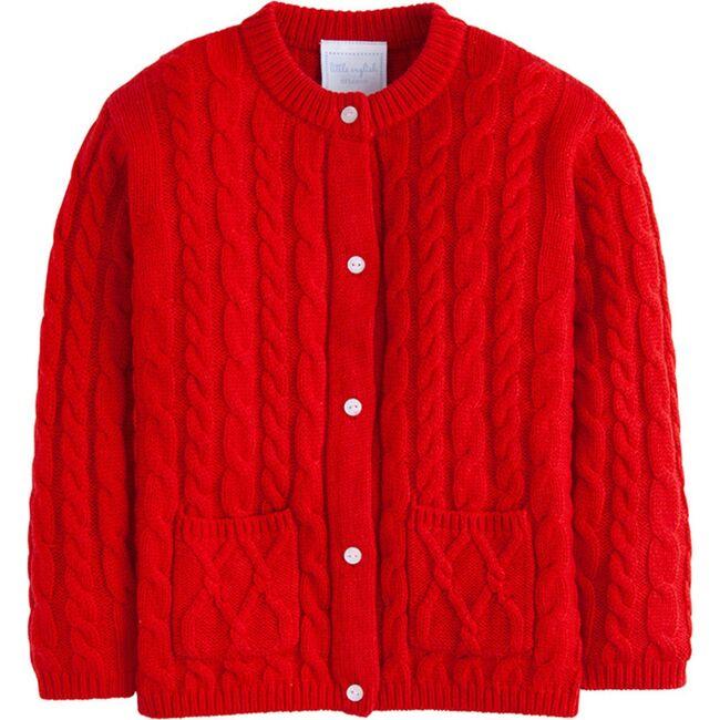 Classic Cashmere Cardigan, Red
