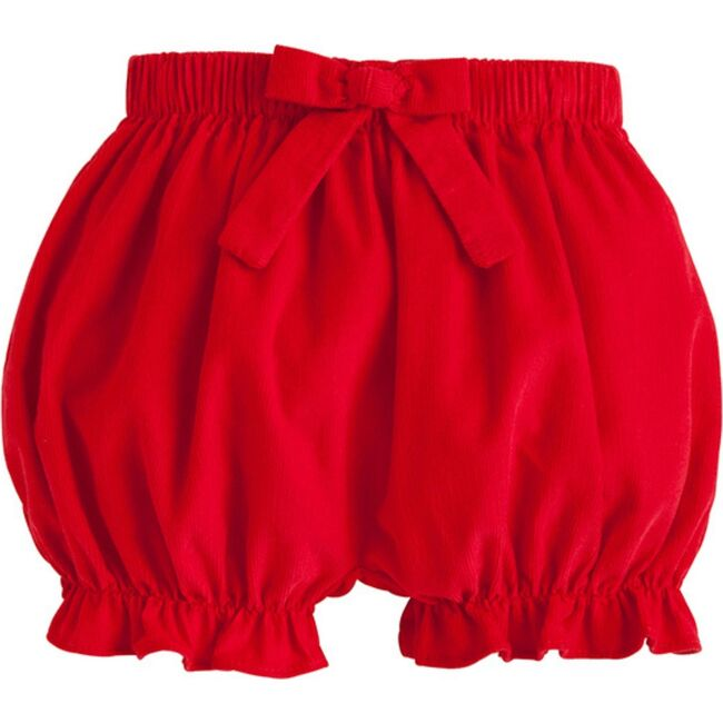 Bow Bloomers, Red Corduroy