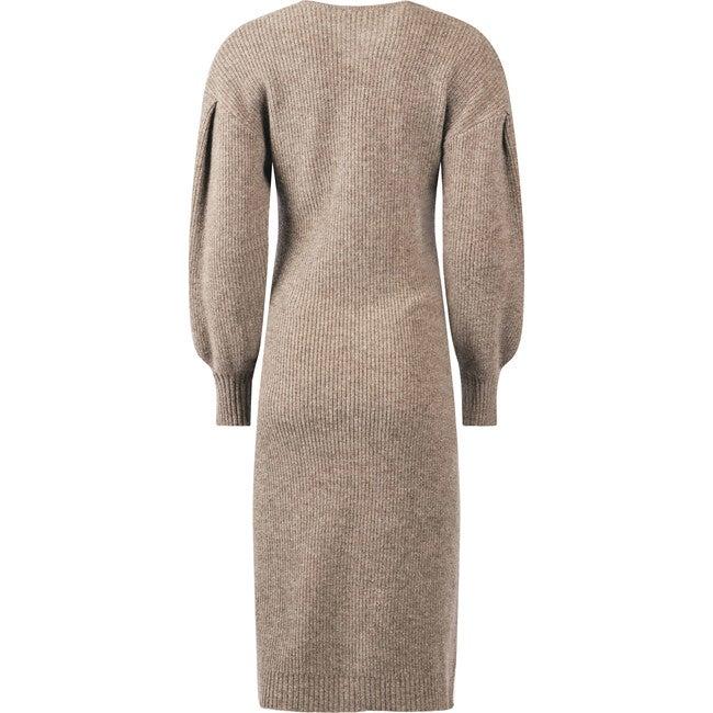 Women's Maternity Eva Sweater Dress, Tan
