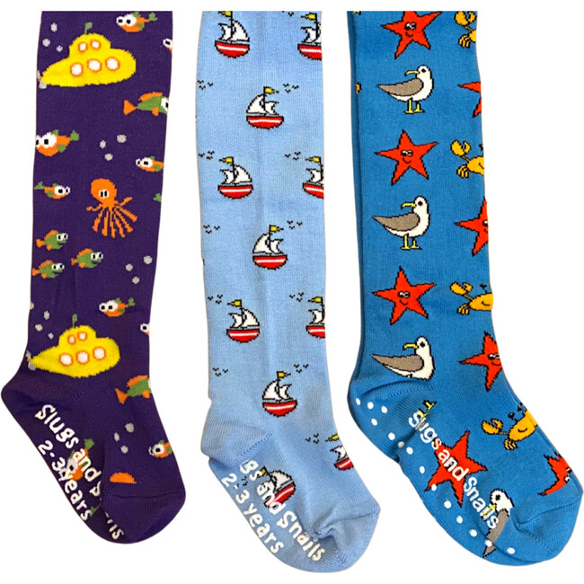 Nautical Footed Tights Set of Three