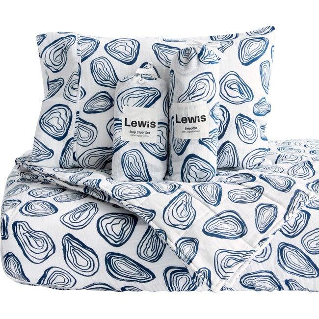 Oyster Baby Bedding Set, Denim