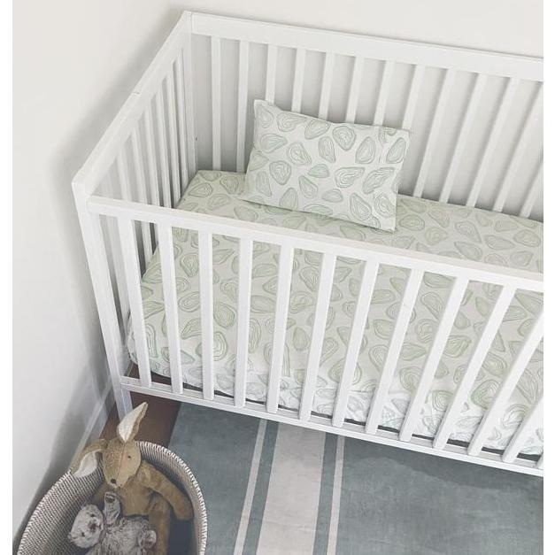Oyster Baby Bedding Set, Agave