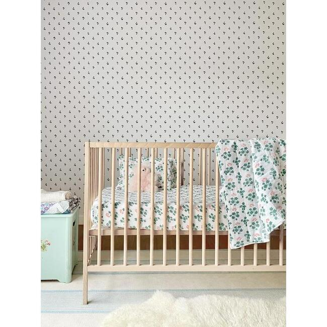 Geranium Baby Bedding Set, Spruce