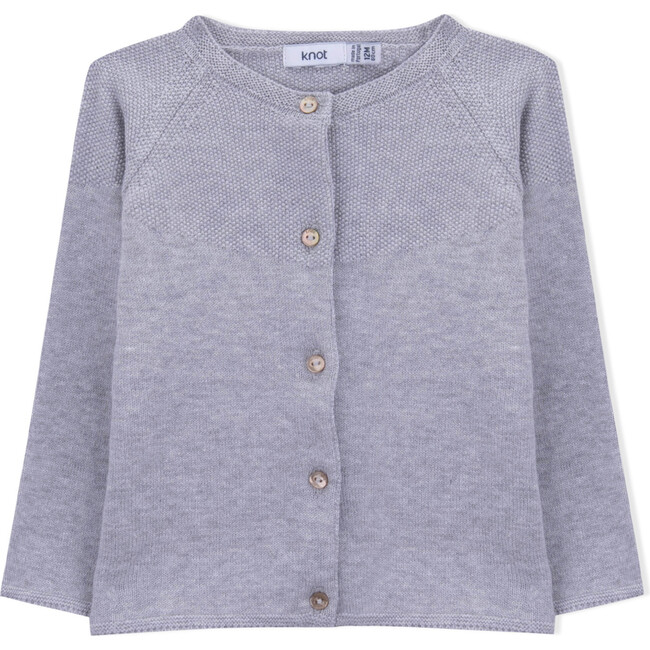 Holly Knitted Coat, Grey