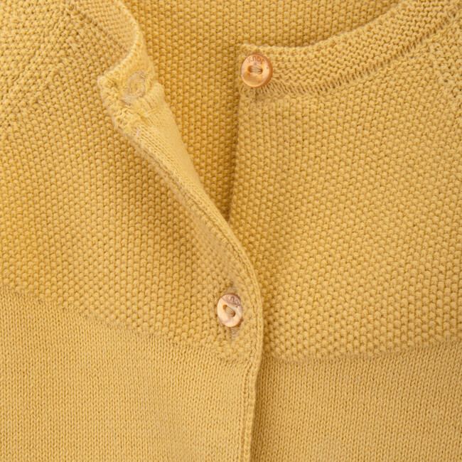 Holly Knitted Coat, Yellow