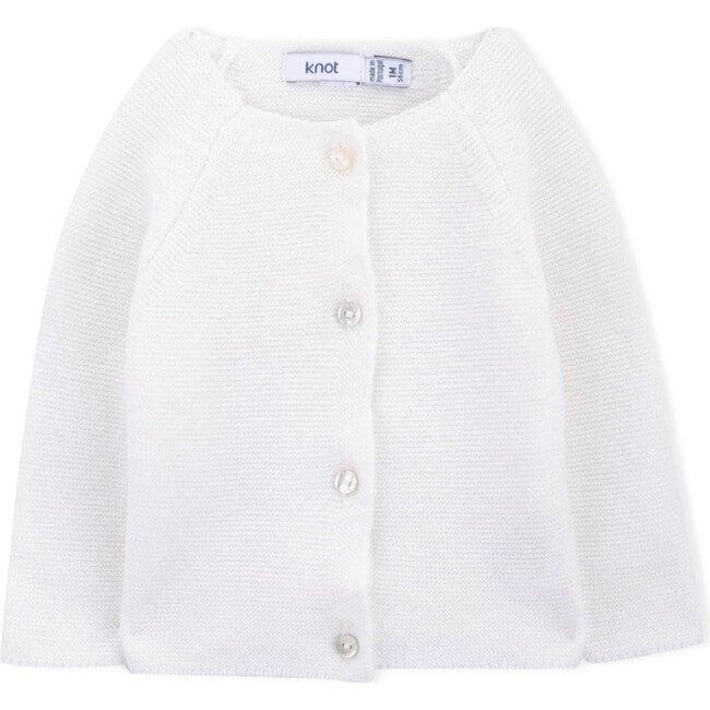 Lane Knitted Coat, White