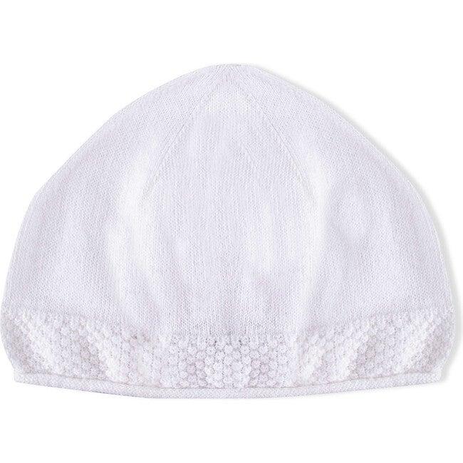 Logan Tricot Hat, White