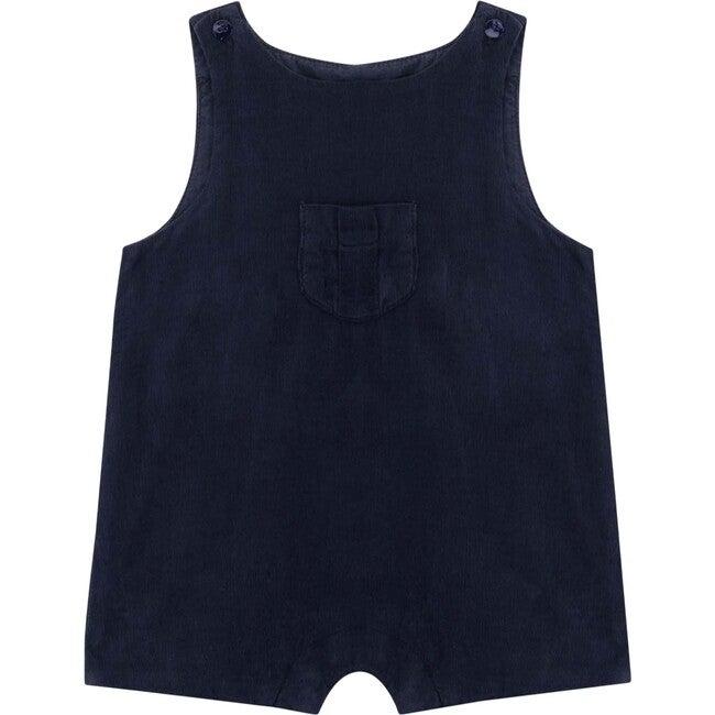 Chris Baby Romper, Dark Slate Blue