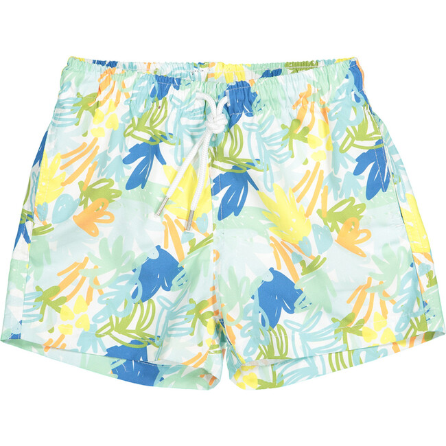 Swim Shorts, Jungle Blue