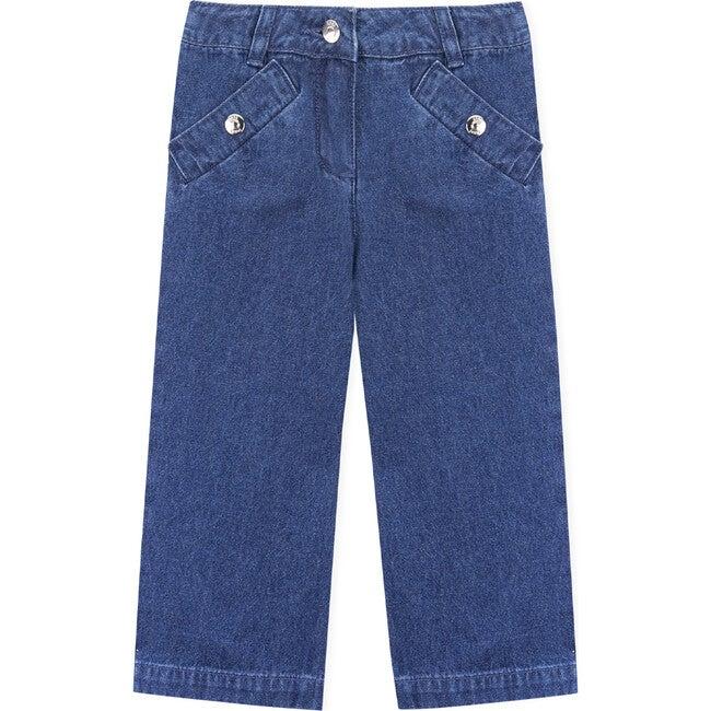Nuriki Trousers, Medium Denim - Pants - 1
