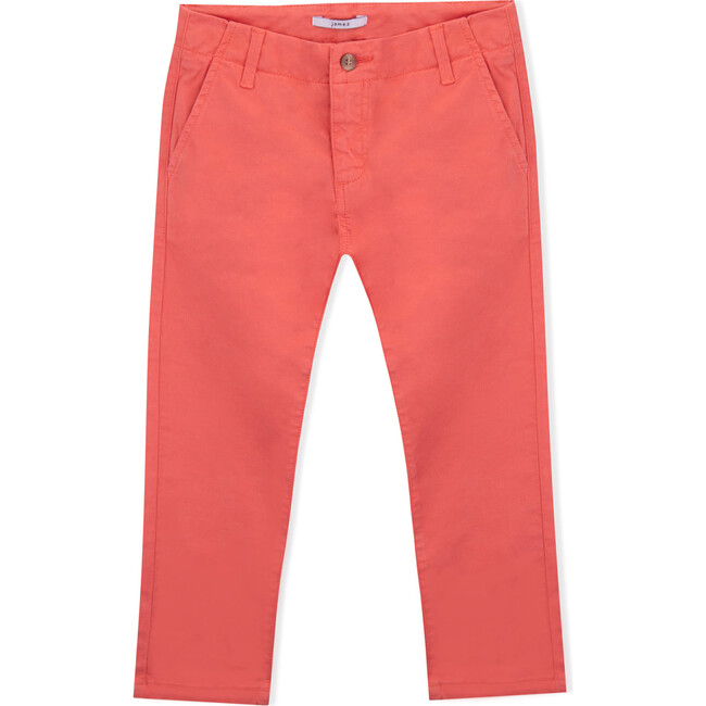 James Twill Trousers, Coral