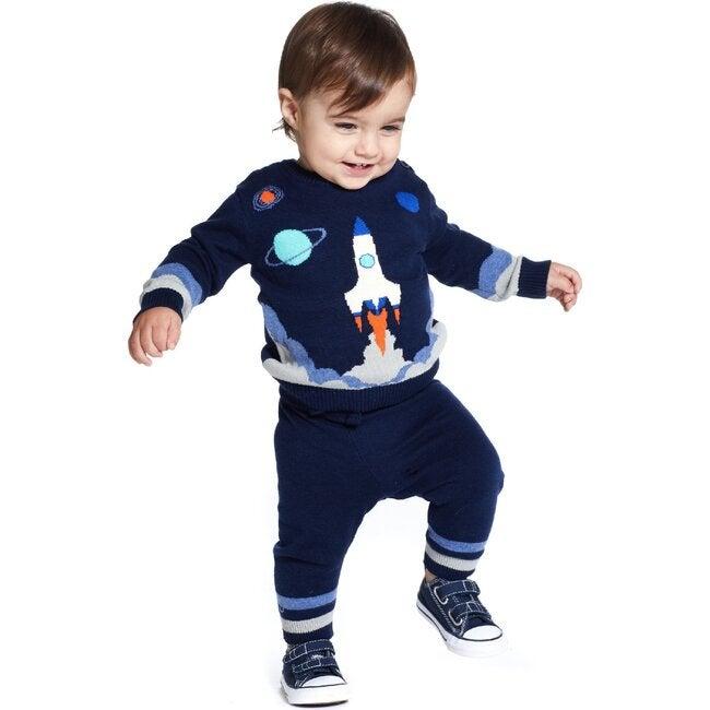 Baby Rocket Sweater Set, Navy