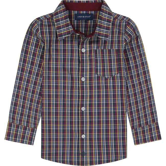 Button Down Shirt, Multi Plaid