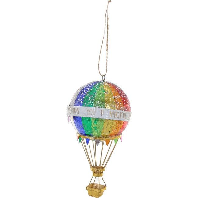 Hot Air Balloon Ornament, Metallic