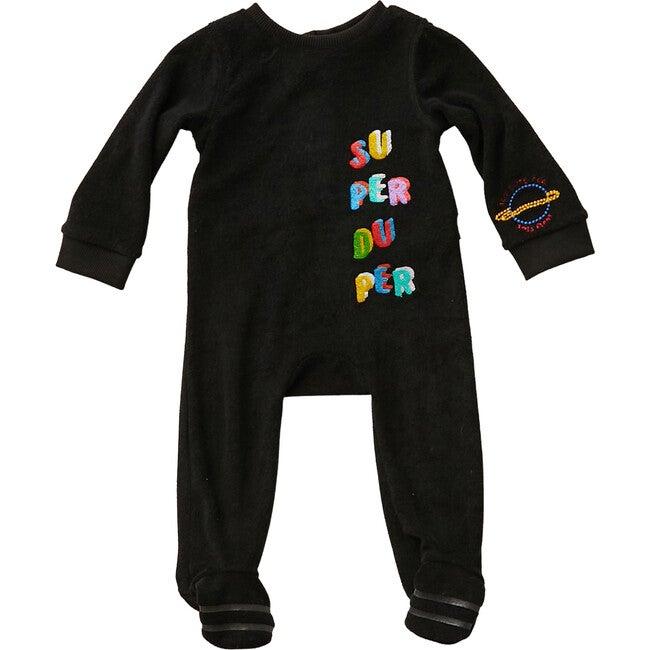 Black Terry Embroidered Onesie