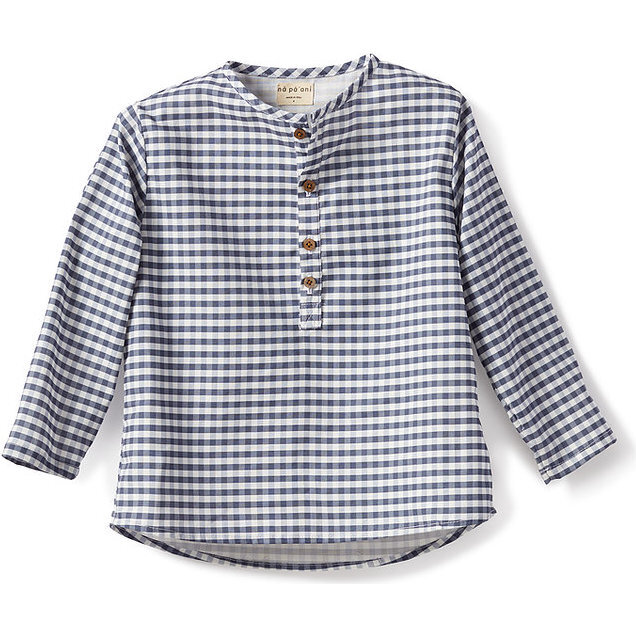 Nico Shirt, Poplin Blue Gingham