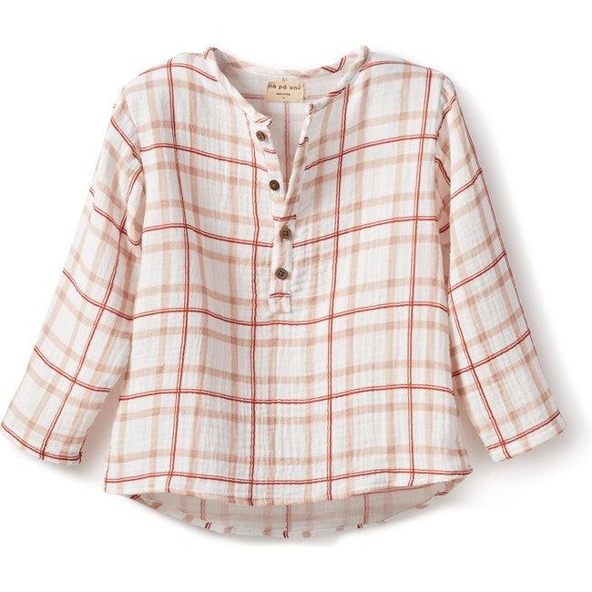 Nico Shirt, Gauze Red Squares