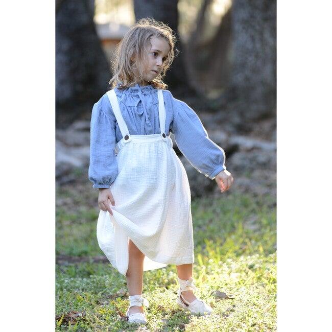 Myriam Suspenders Dress, Gauze Natural