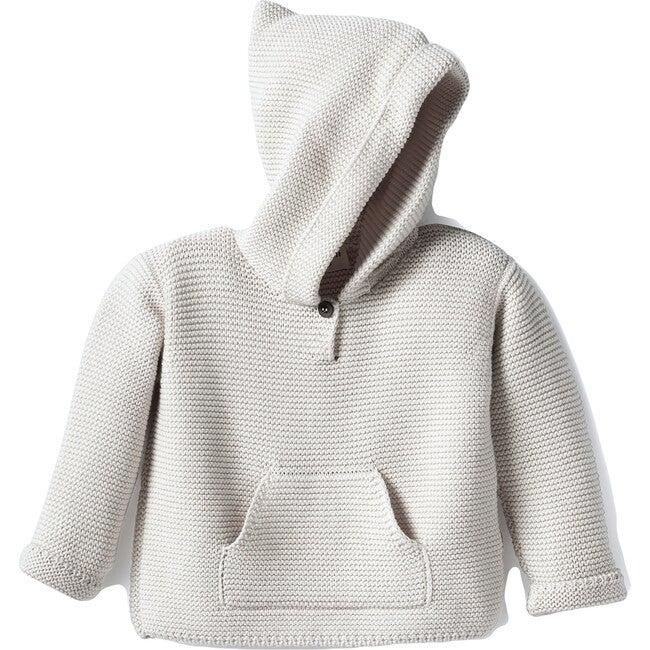 Jorge Knit Hoodie, Cotton Natural