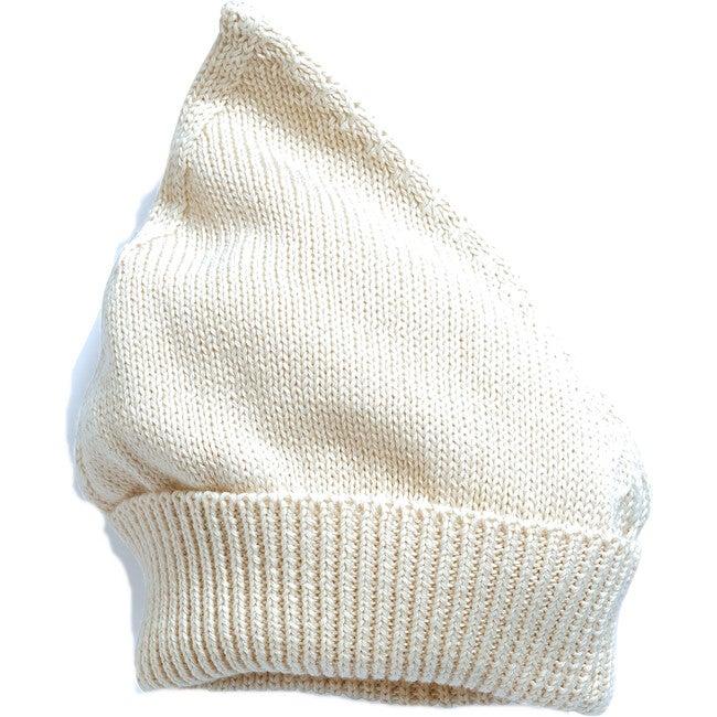 Gnome Knit Bonnet, Cotton Natural