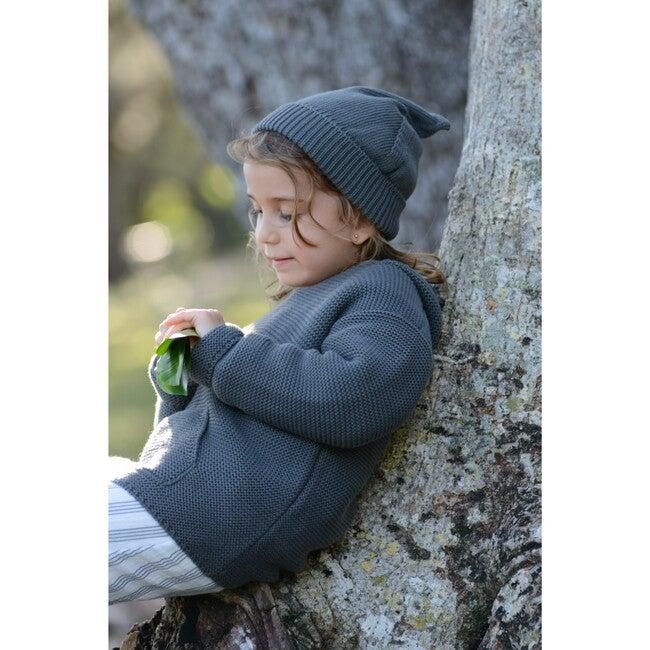 Gnome Knit Bonnet, Cotton Petrol