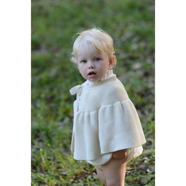 Cecilia Knit Cape, Cotton Natural