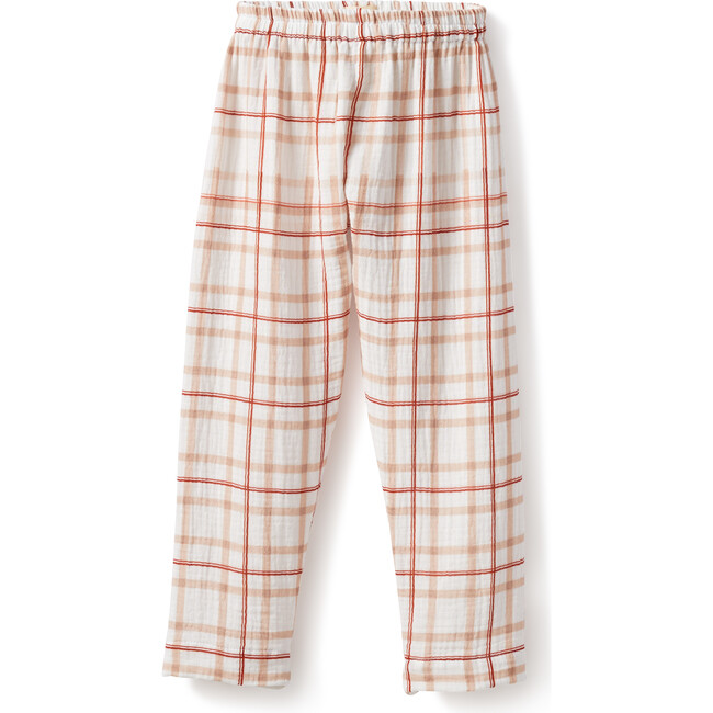 Pelayo Pants, Gauze Red Squares