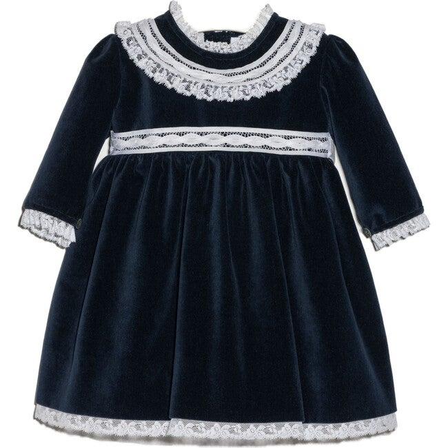 Francesca Velvet Dress, Navy