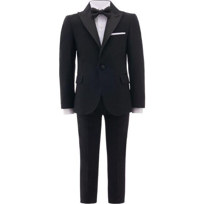 Peak Lapel Suit, Black