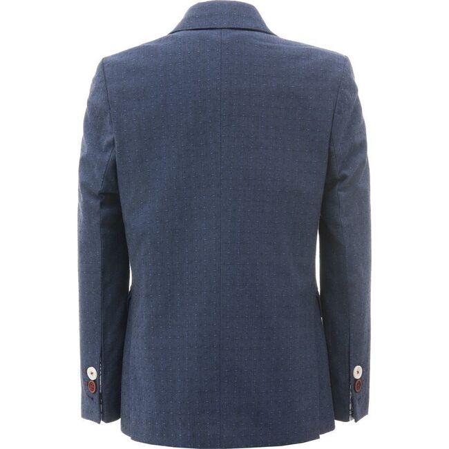 Embroidred Blazer, Blue